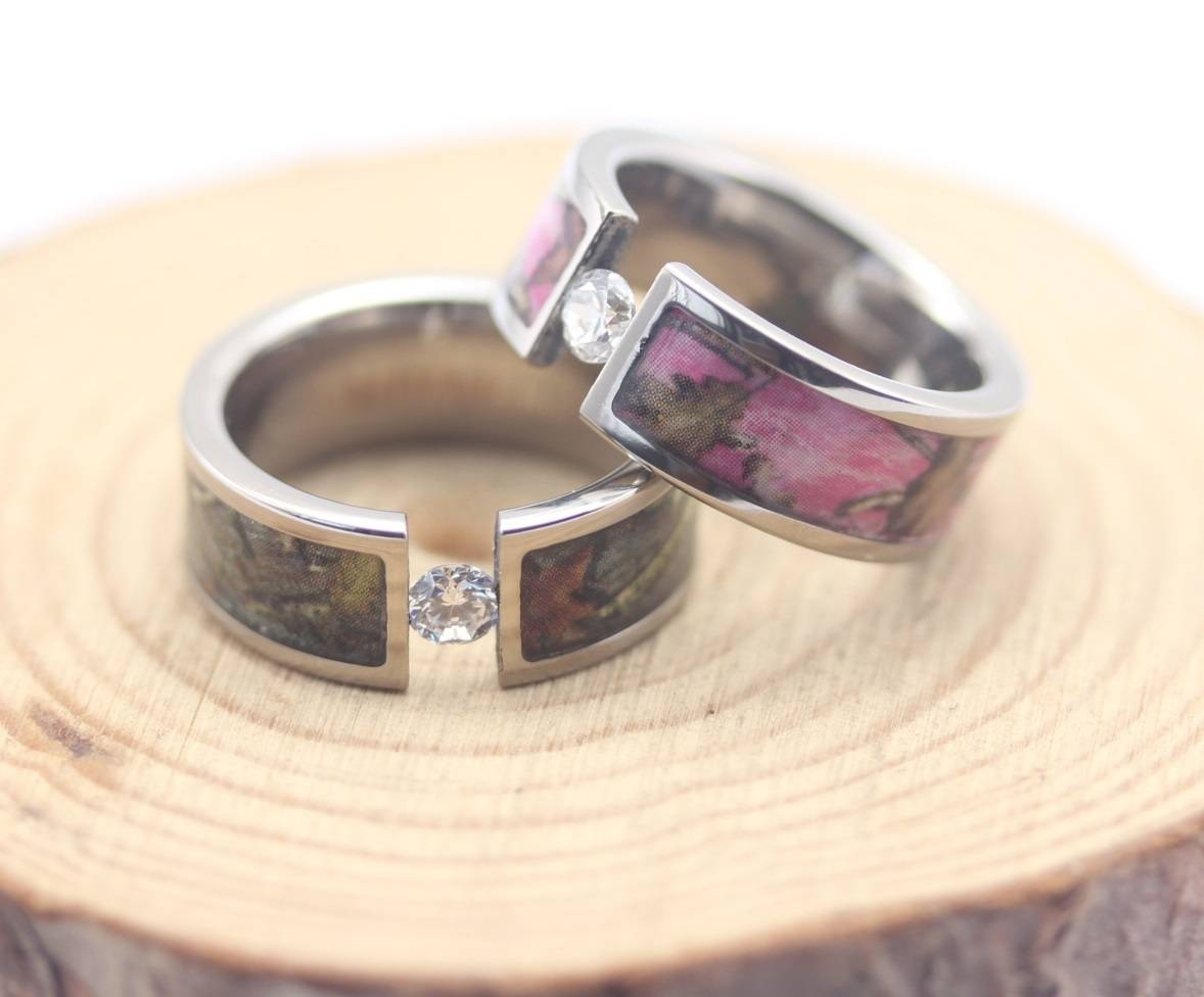 Choose Pink Camo Wedding Rings For Eternal Love | Wedding Ideas With Camo  Wedding Bands For