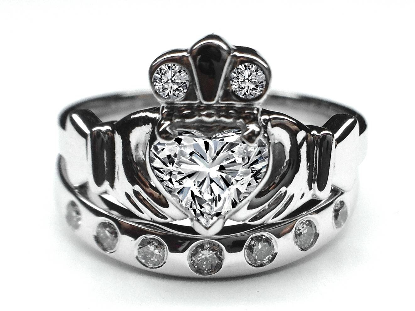 Claddagh – Engagement Rings From Mdc Diamonds Nyc Within Diamond Claddagh Engagement Rings (View 4 of 15)