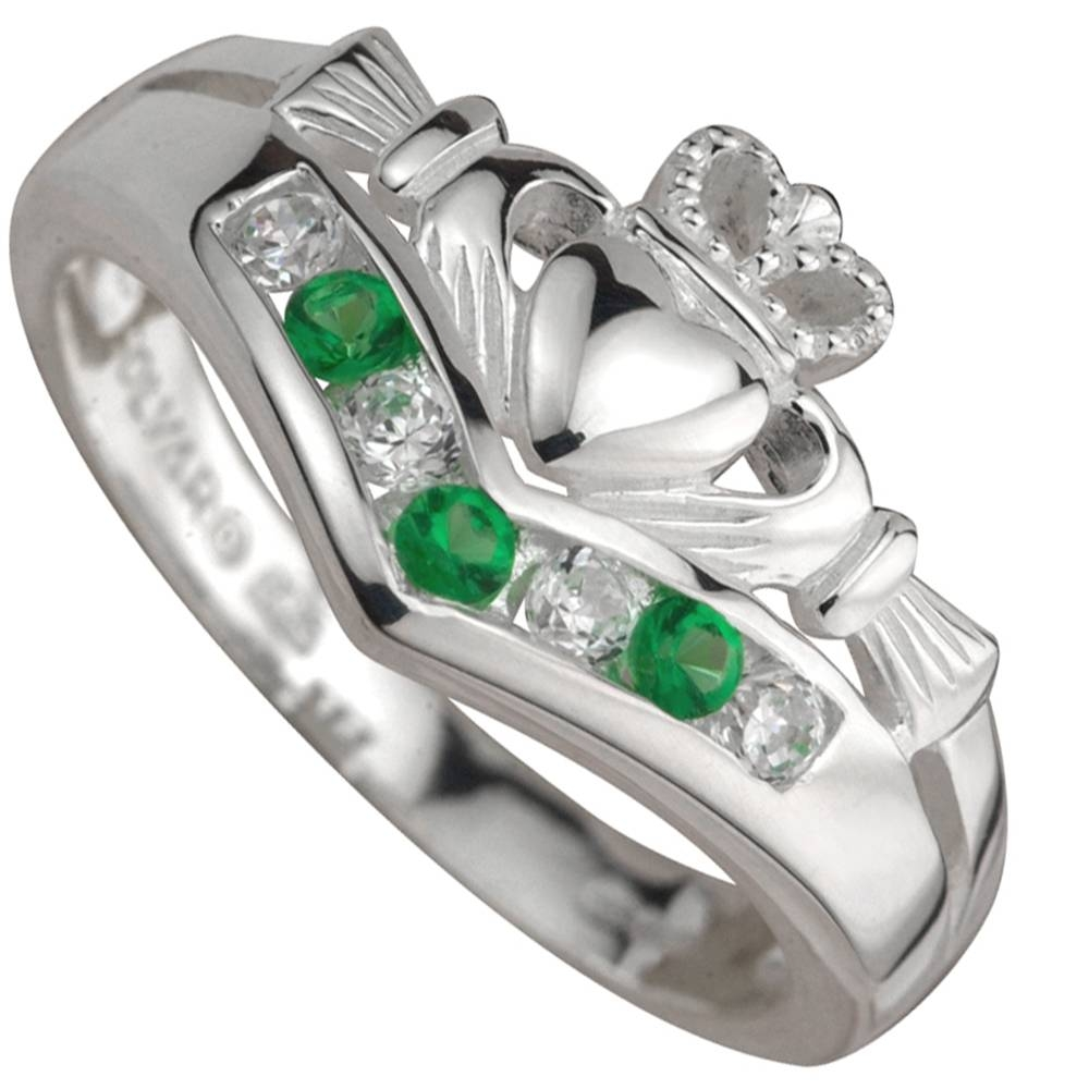 Claddagh Ring – Gold Claddagh With Emeralds And Diamonds At For Emerald Claddagh Engagement Rings (Gallery 9 of 15)