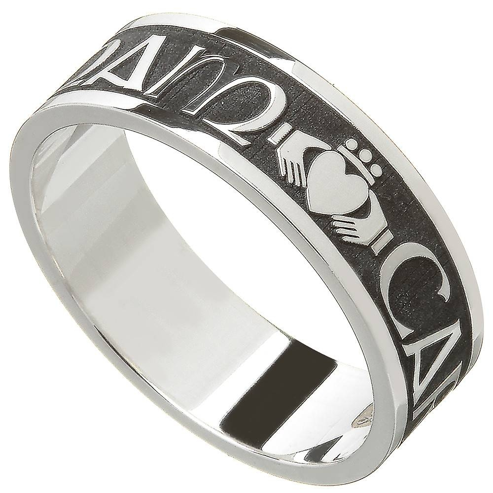 Claddagh Ring – Ladies Sterling Silver Celtic Claddagh Wedding Intended For Claddagh Mens Wedding Bands (View 1 of 15)