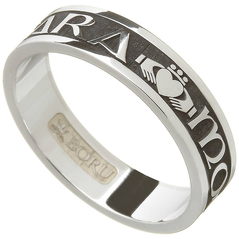 Claddagh Ring – Men's Sterling Silver Celtic Claddagh Wedding Band With Men's Claddagh Wedding Bands (View 8 of 10)