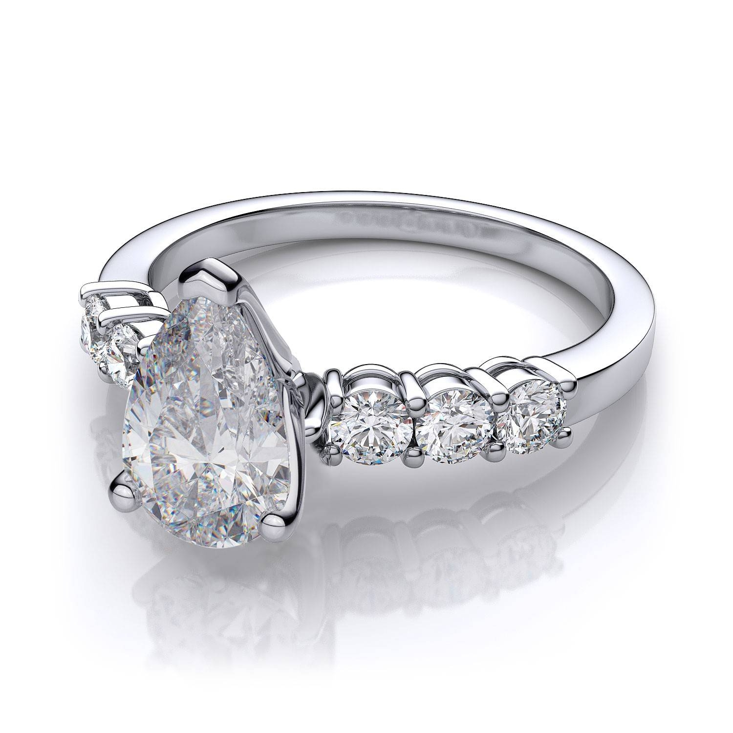 setting in diamond settings jewellery ring solitaire white gold engagement cathedral prong tapered