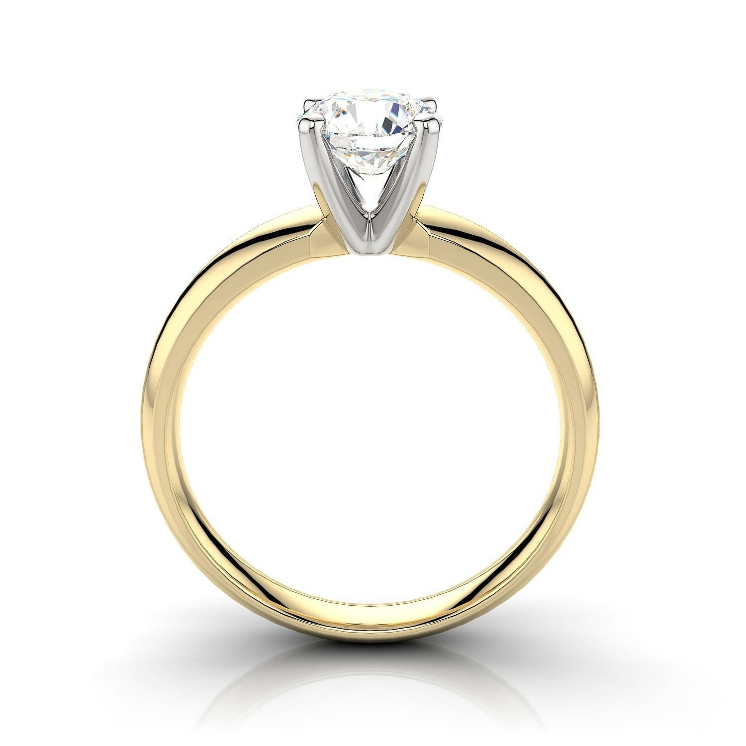 Classic Round Diamond Solitaire Engagement Ring In 14K Yellow Gold With Traditional Gold Engagement Rings (View 6 of 15)