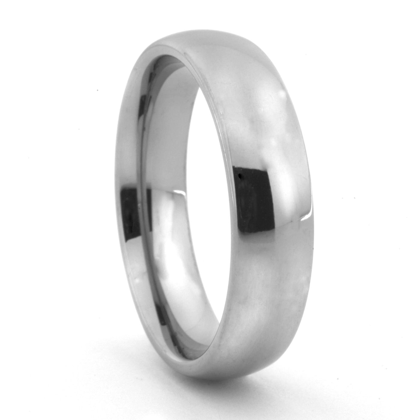 Classic Titanium Wedding Band – 6Mm Men's Titanium Band Regarding Titanium Wedding Bands (Gallery 12 of 15)