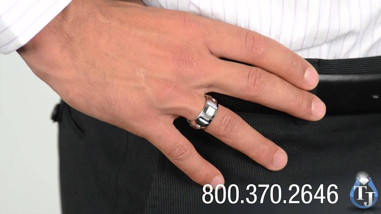 Cobalt Wedding Band With Diamondsbenchmark, Ekton 10Mm – Youtube With Regard To Mens 10Mm Tungsten Wedding Bands (View 6 of 15)