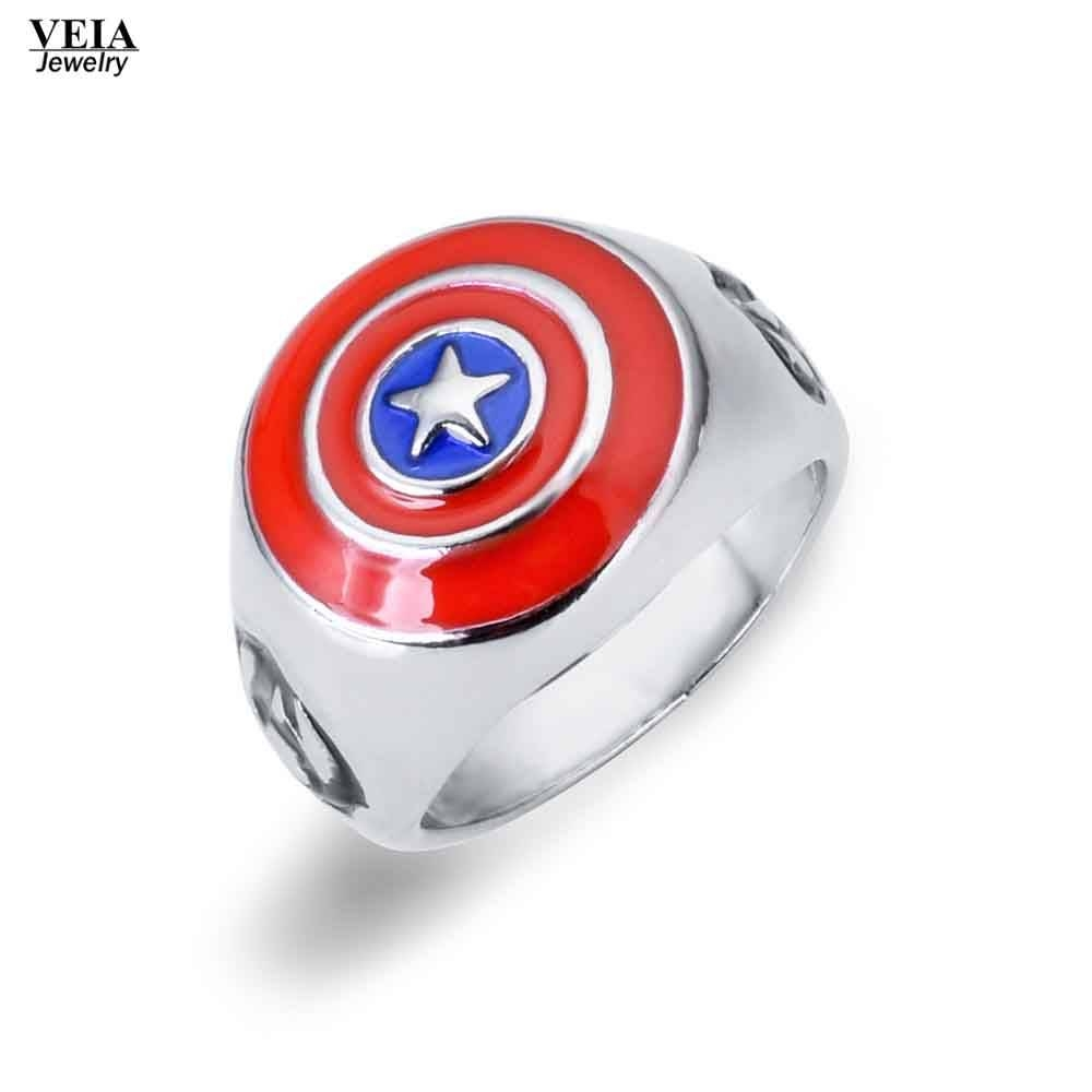 Compare Prices On America Captain Ring  Online Shopping/buy Low In Captain America Wedding Bands (View 7 of 15)