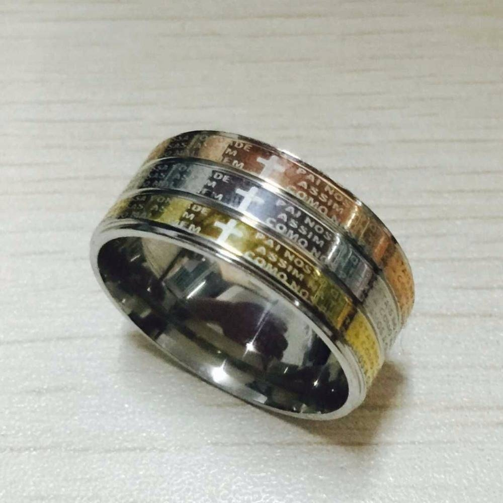 Compare Prices On Bible Wedding  Online Shopping/buy Low Price With Titanium Lord Of The Rings Wedding Bands (View 3 of 21)