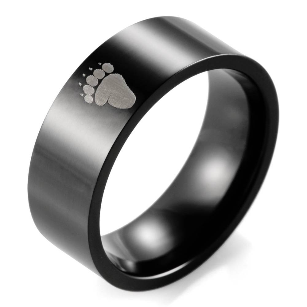 Compare Prices On Flat Wedding Band  Online Shopping/buy Low Price Intended For Flat Black Wedding Bands (View 7 of 15)