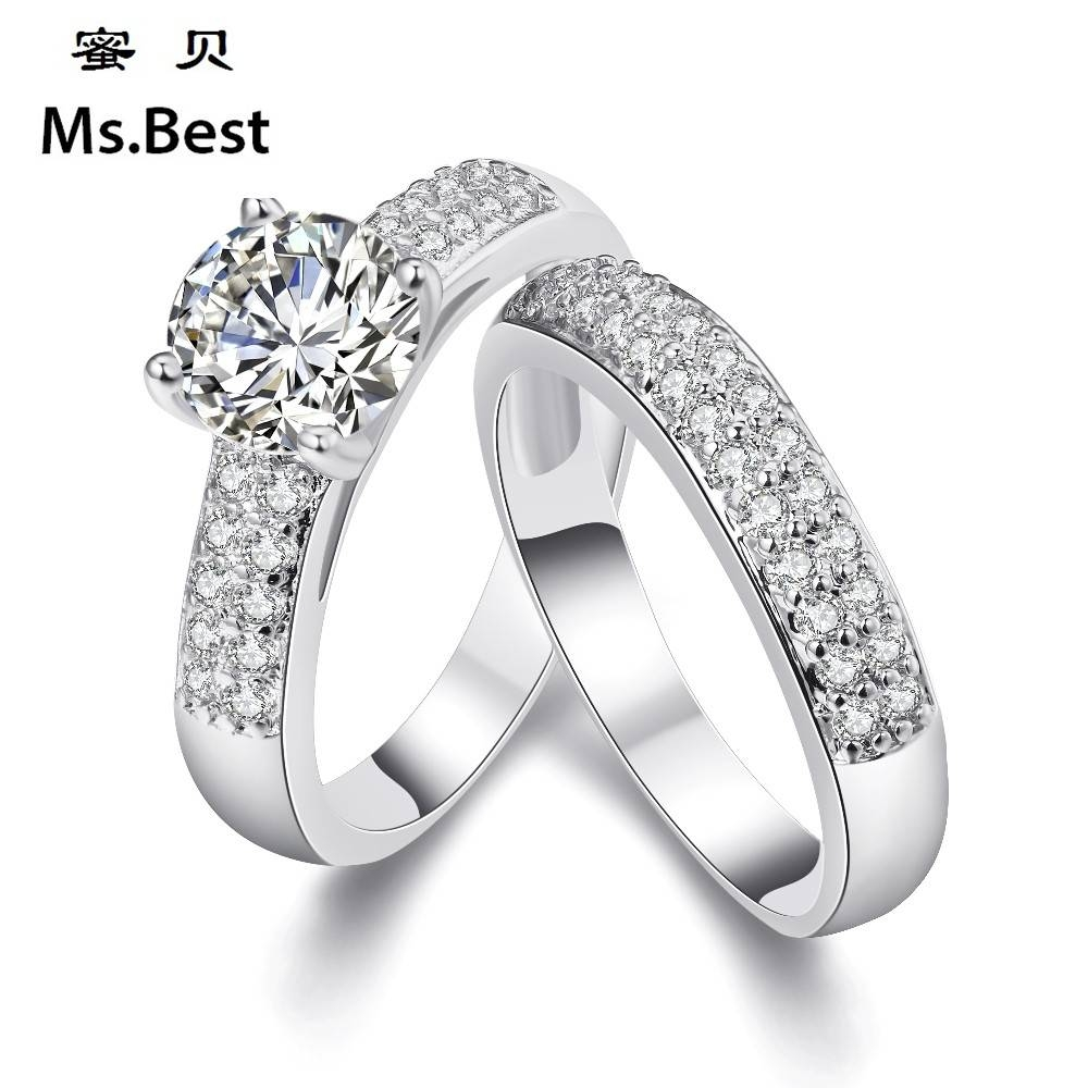 Compare Prices On Gold Wedding Rings Set For Him And Her  Online Within Engagement Ring Sets For Him And Her (View 2 of 15)
