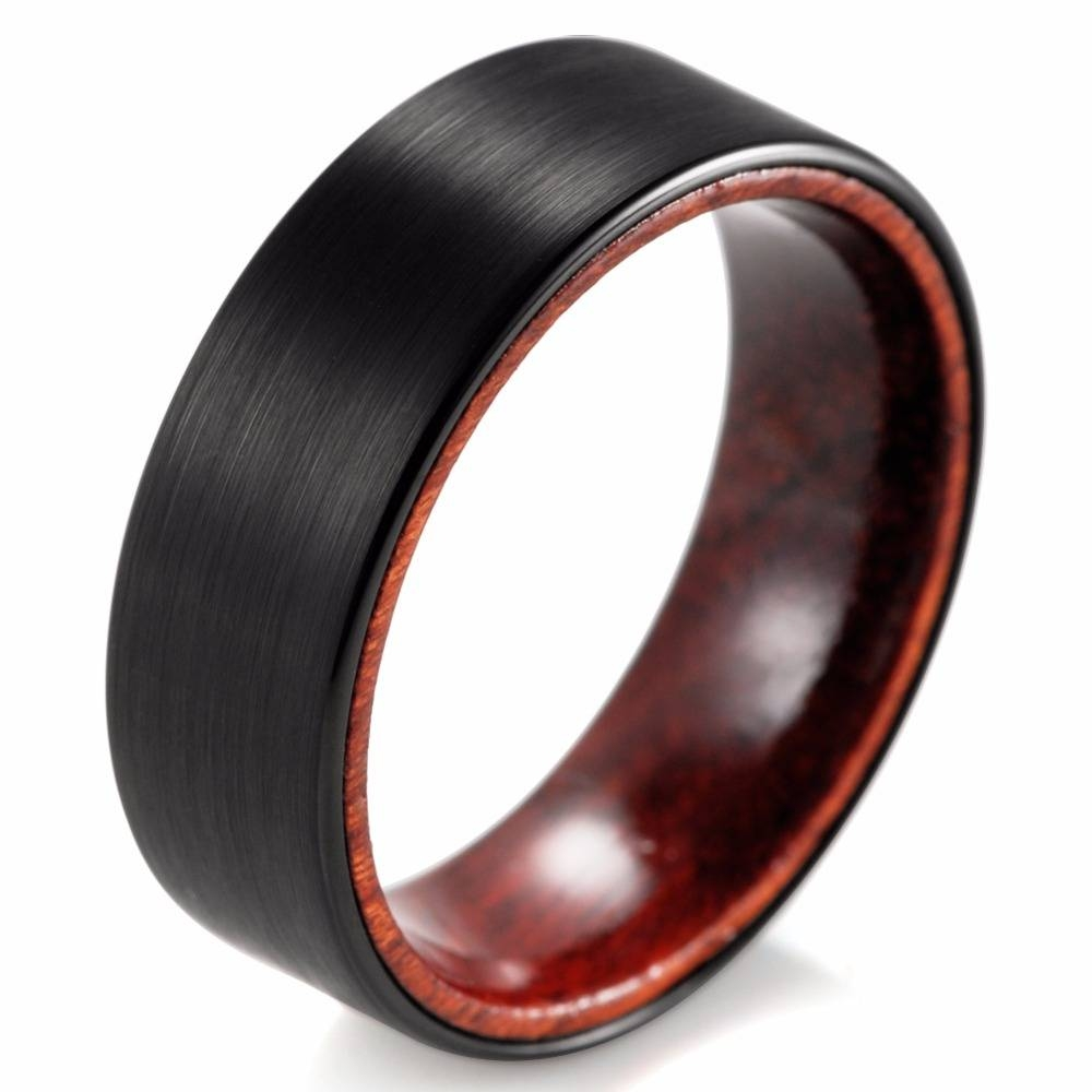 Compare Prices On Manly Wedding Band Online Shopping/buy Low For Matte Black Wedding Bands (View 14 of 15)