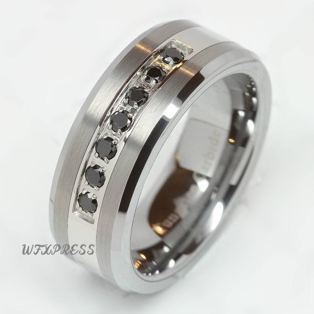 Compare Prices On Mens Cz Wedding Band  Online Shopping/buy Low Intended For Men's Cz Wedding Bands (View 4 of 15)