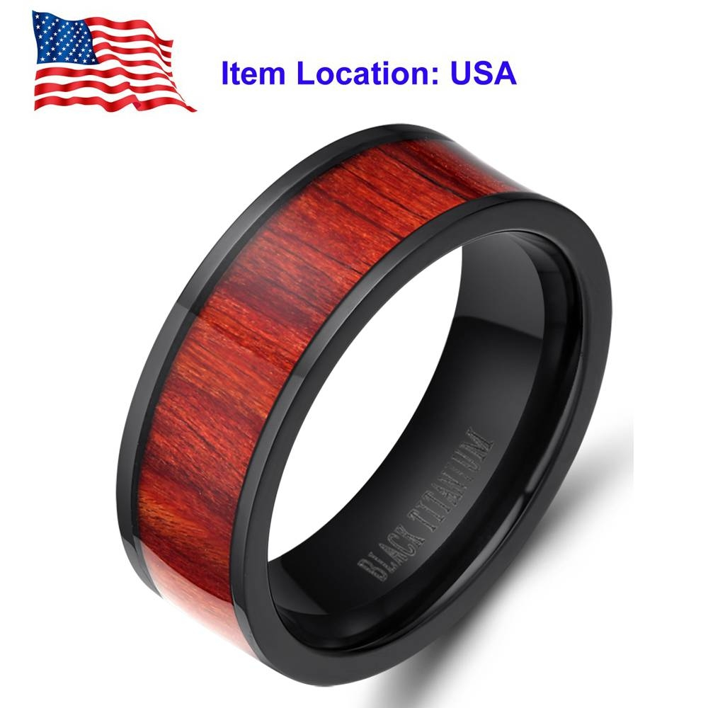 Compare Prices On Ring Wood Wedding Online Shopping/buy Low Price Within Men's Wood Grain Wedding Bands (View 14 of 15)