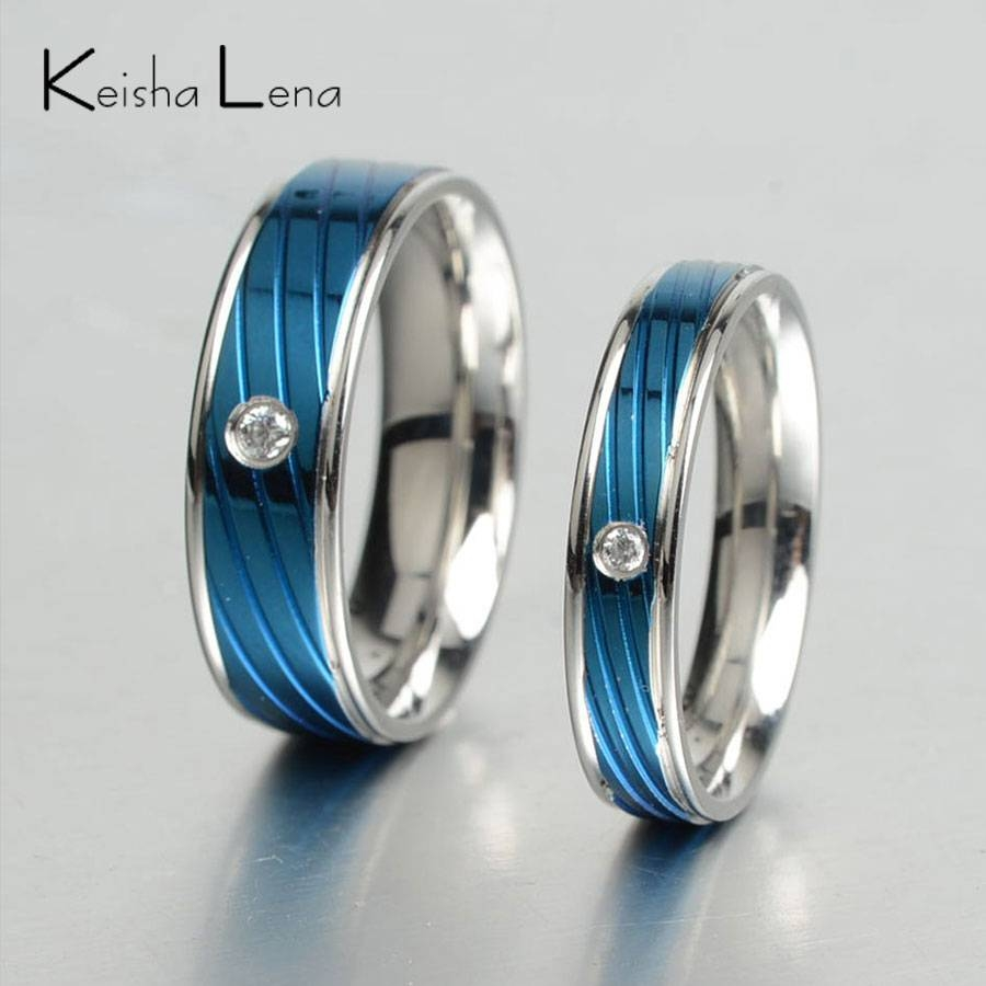 Compare Prices On Titanium Ring Band Online Shopping/buy Low Regarding Thin Blue Line Engagement Rings (View 13 of 15)