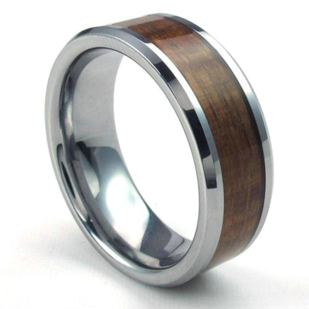 Compare Prices On Wedding Band Wood Online Shopping/buy Low Price For Men's Wood Grain Wedding Bands (View 7 of 15)
