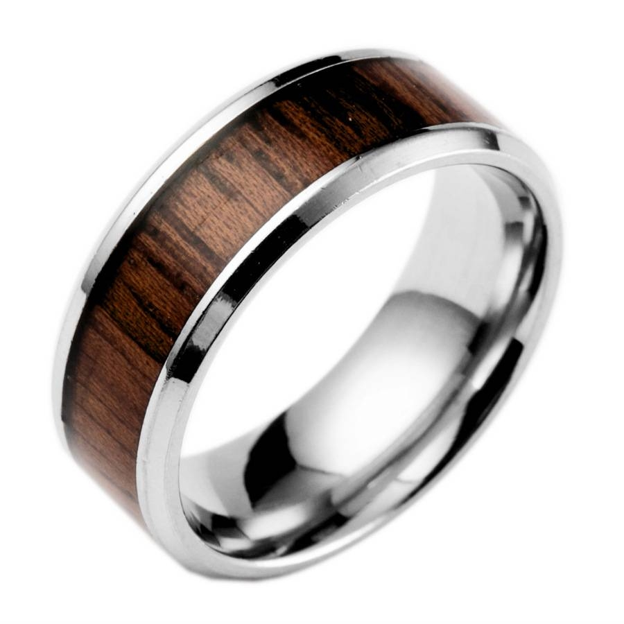 Compare Prices On Wedding Bands Wood  Online Shopping/buy Low Within Men's Wood Grain Wedding Bands (View 6 of 15)