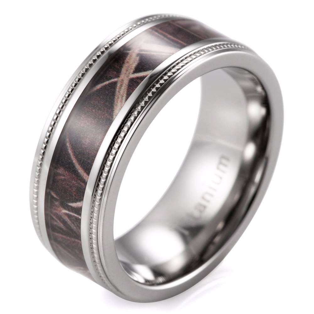 Compare Prices On Wedding Camo Rings Online Shopping/buy Low For Men's Hunting Wedding Bands (View 8 of 15)