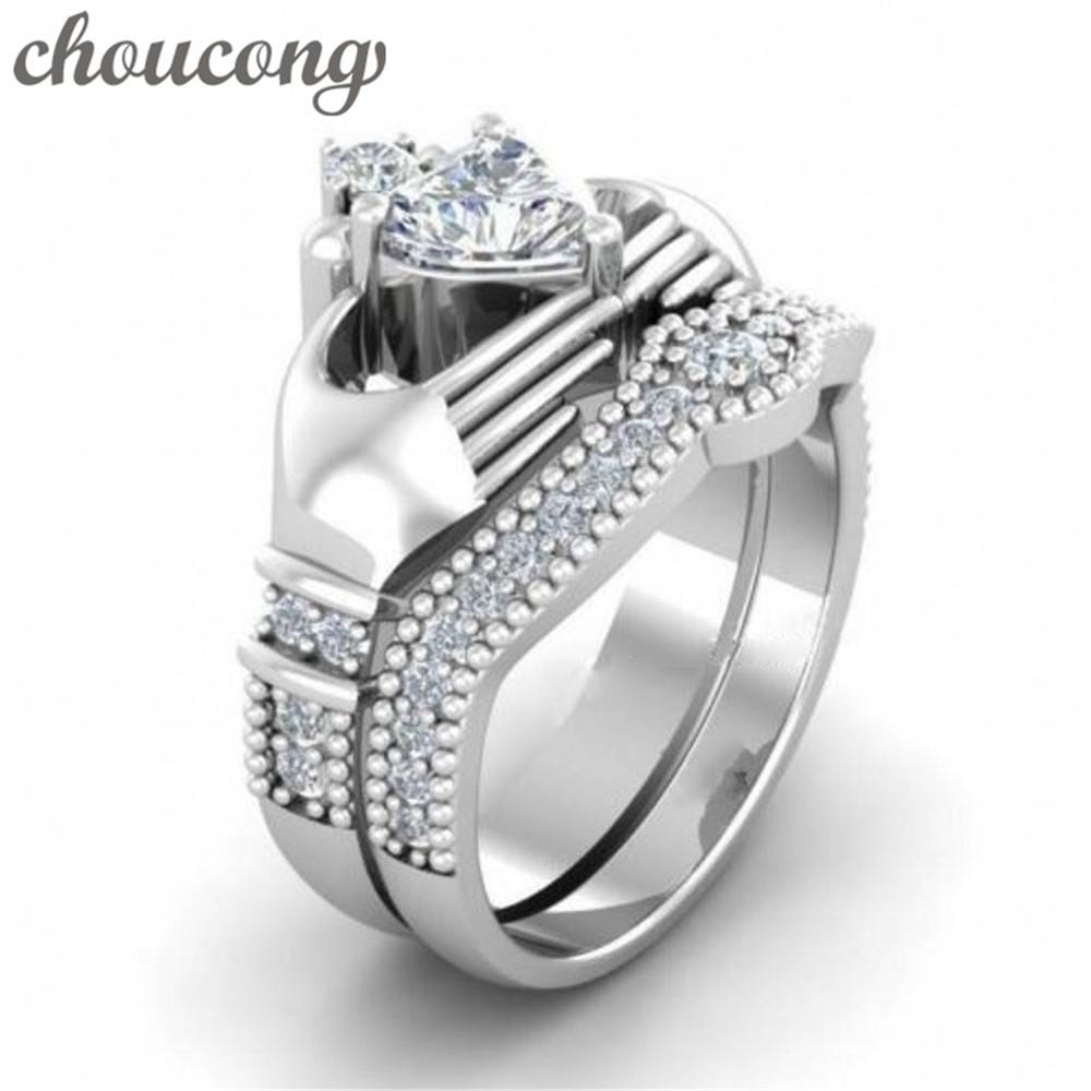 Compare Prices On White Gold Claddagh Ring  Online Shopping/buy Pertaining To Claddagh Mens Wedding Bands (View 4 of 15)