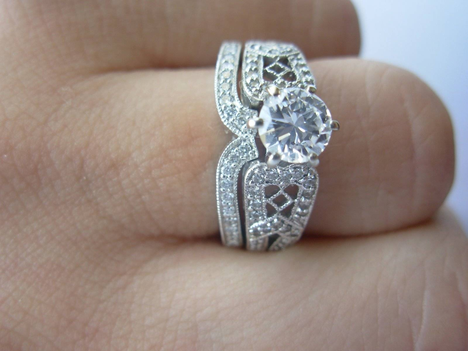Featured Photo of Interlocking Engagement Rings And Wedding Band