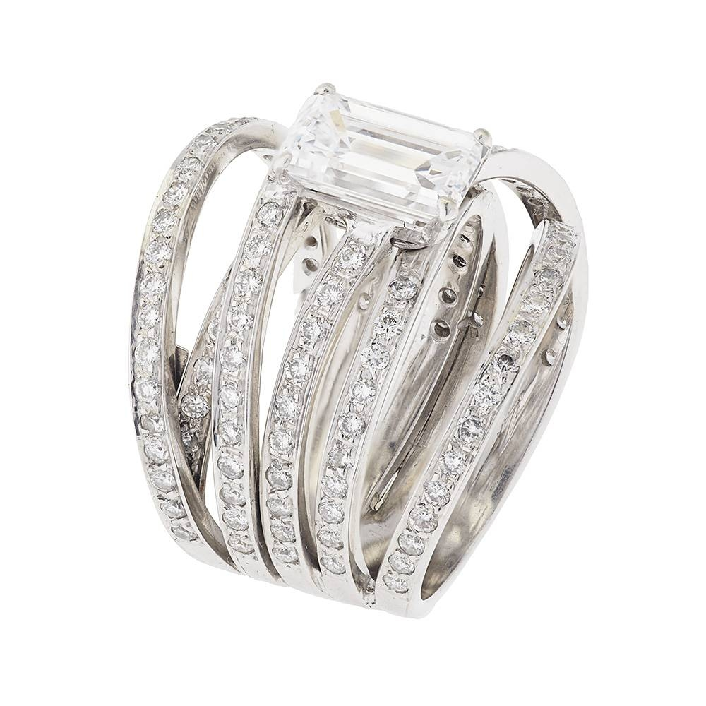 Contemporary White Gold Diamond Ring | Buy White Gold Diamond Intended For Contemporary Wedding Rings (View 7 of 15)