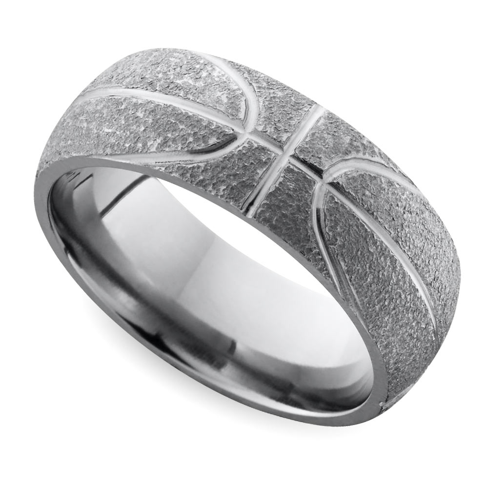 Cool Men's Wedding Rings For Sports Fanatics Within Silver Mens Engagement Rings (View 5 of 15)