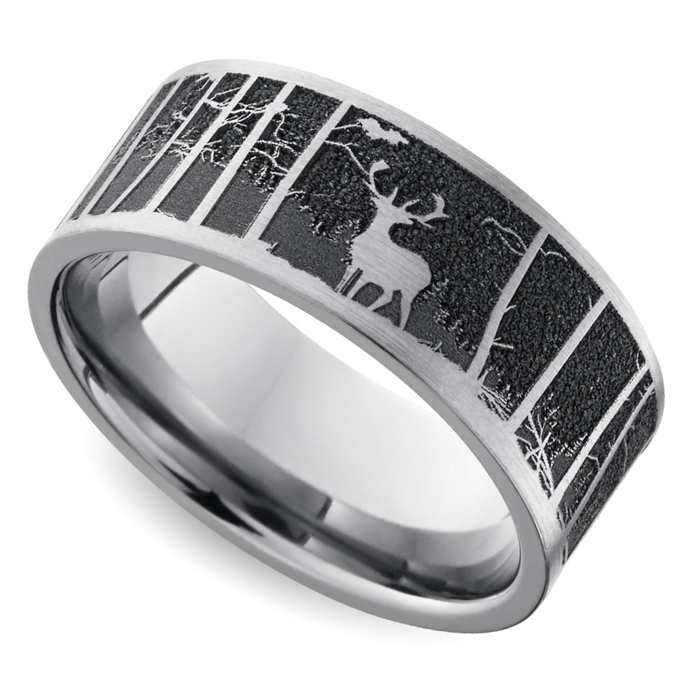 Cool Men's Wedding Rings That Defy Tradition Throughout Men's Outdoor Wedding Bands (View 6 of 15)