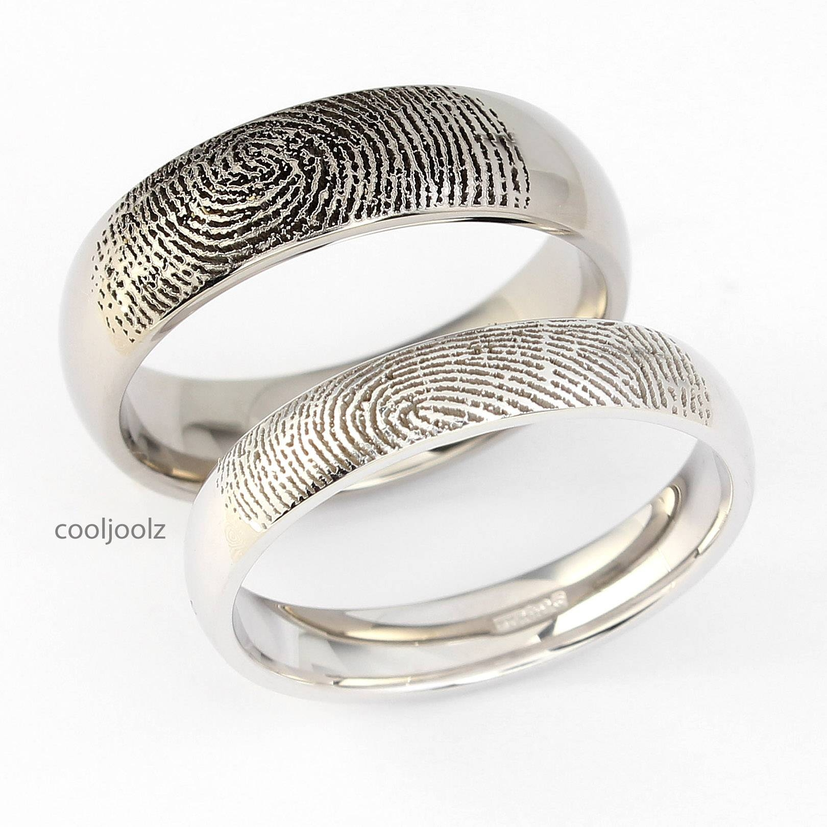 Cooljoolz | Wedding Rings Leedswedding Rings Bradford | Engagement Within Fingerprint Wedding Rings (View 5 of 15)