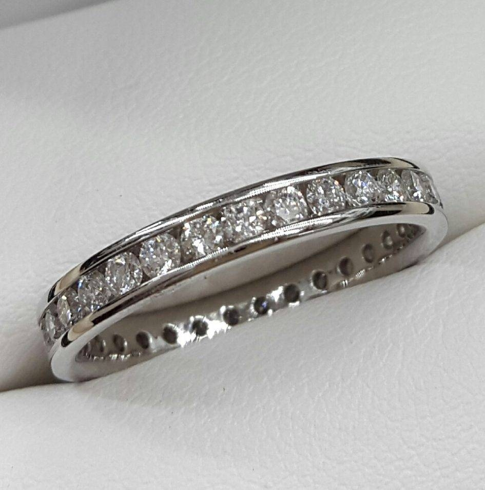 Costco Mens Wedding Bands Hammered Look White Gold Men S Wedding In Platinum Wedding Bands Costco (View 5 of 15)