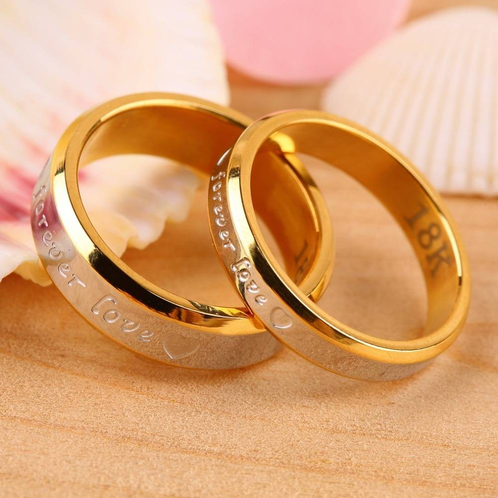 Couples Finger Rings Within Engagement Rings For Couples In Gold (View 4 of 15)