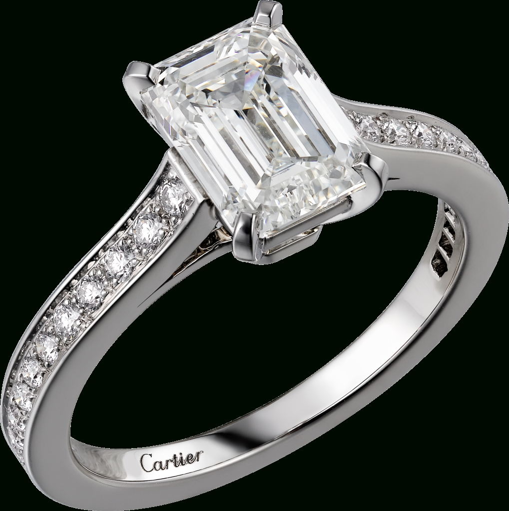 Crh4209000 – 1895 Solitaire Ring – Platinum, Diamonds – Cartier Inside Mens Engagement Rings Cartier (View 10 of 15)