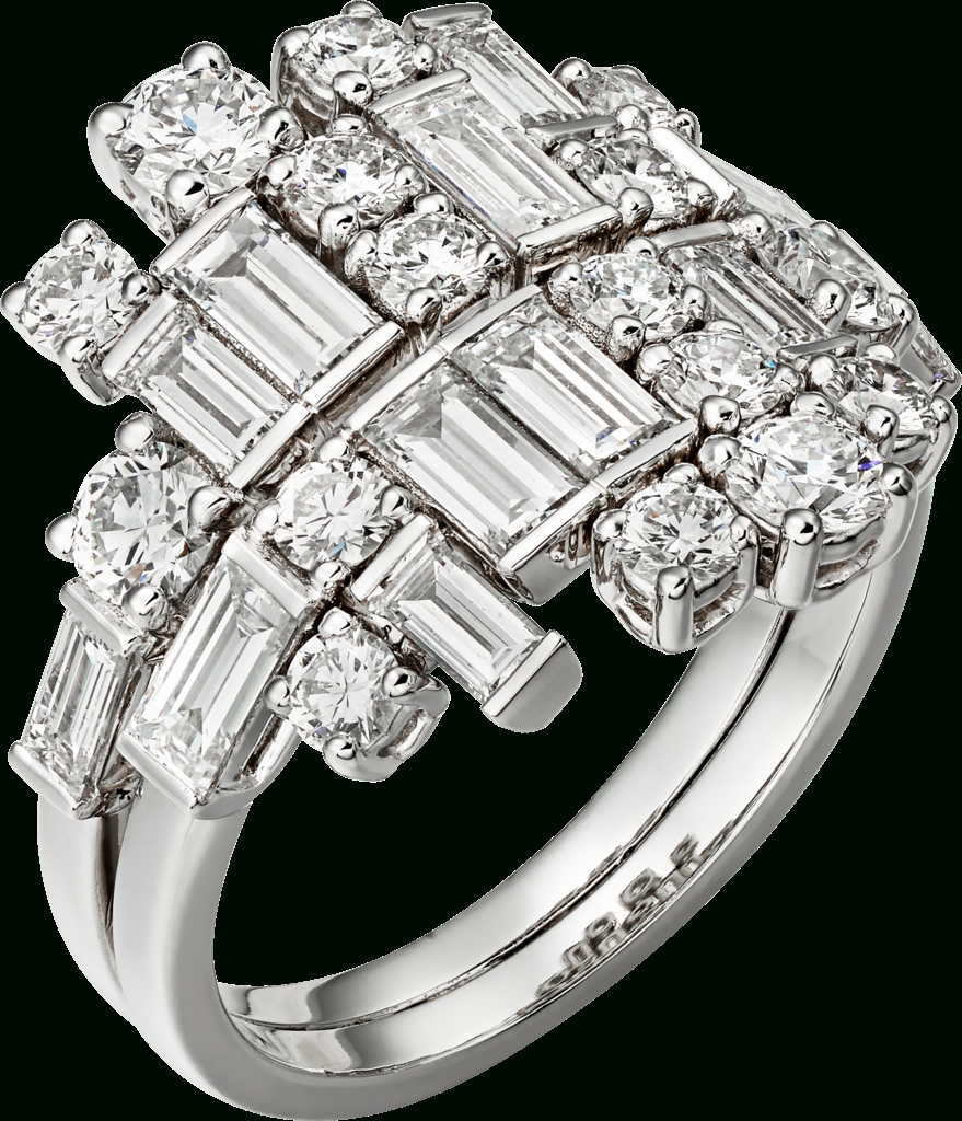 Crh4315200 – Reflection De Cartier Ring – White Gold, Diamonds Regarding Mens Engagement Rings Cartier (View 15 of 15)