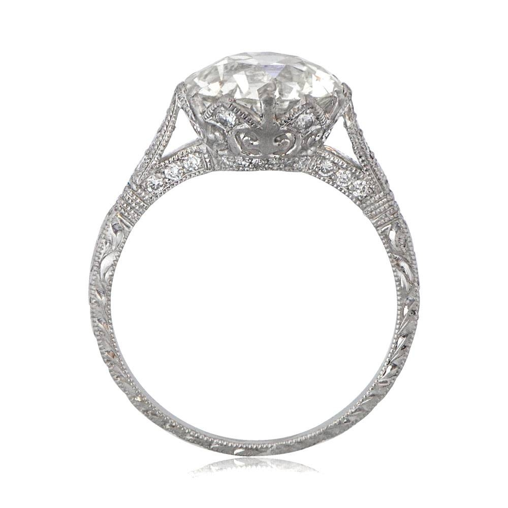 Crown Setting Engagement Ring | Vintage Diamond Ring Pertaining To Diamond Solitaire Wedding Rings (View 4 of 15)