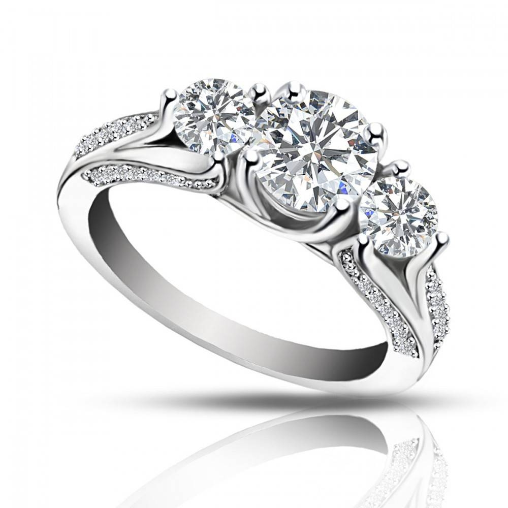 Ct Ladies One Of A Kind Diamond Engagement Ring Intended For One Rings Engagement Rings (View 5 of 15)