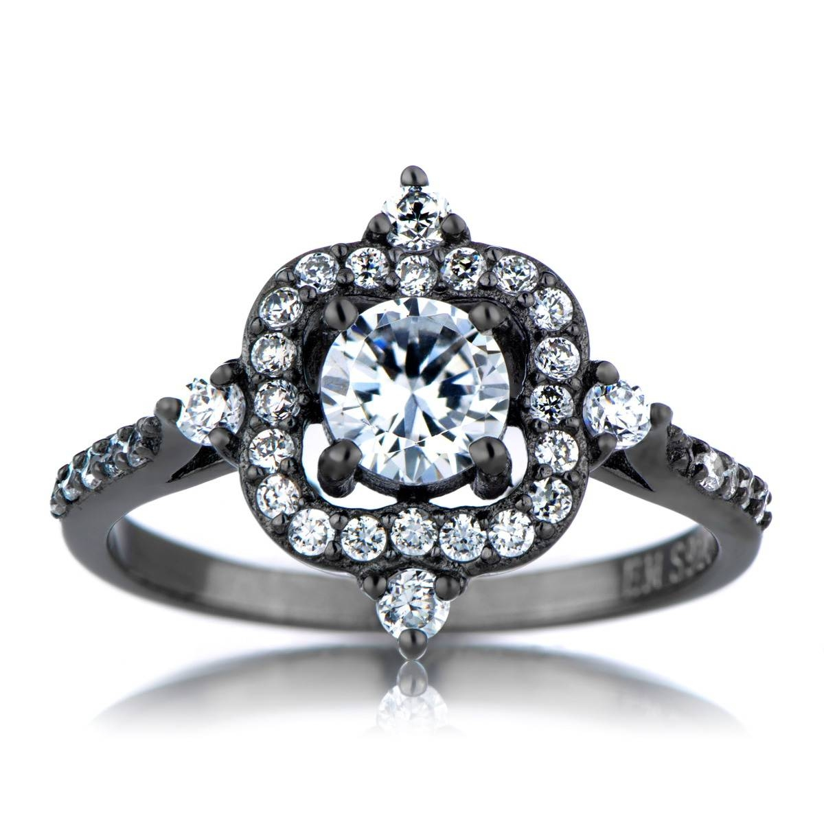 Cubic Zirconia Engagement Rings | Cz Engagement Rings | Cz Rrings With Antique Inspired Wedding Rings (View 6 of 15)