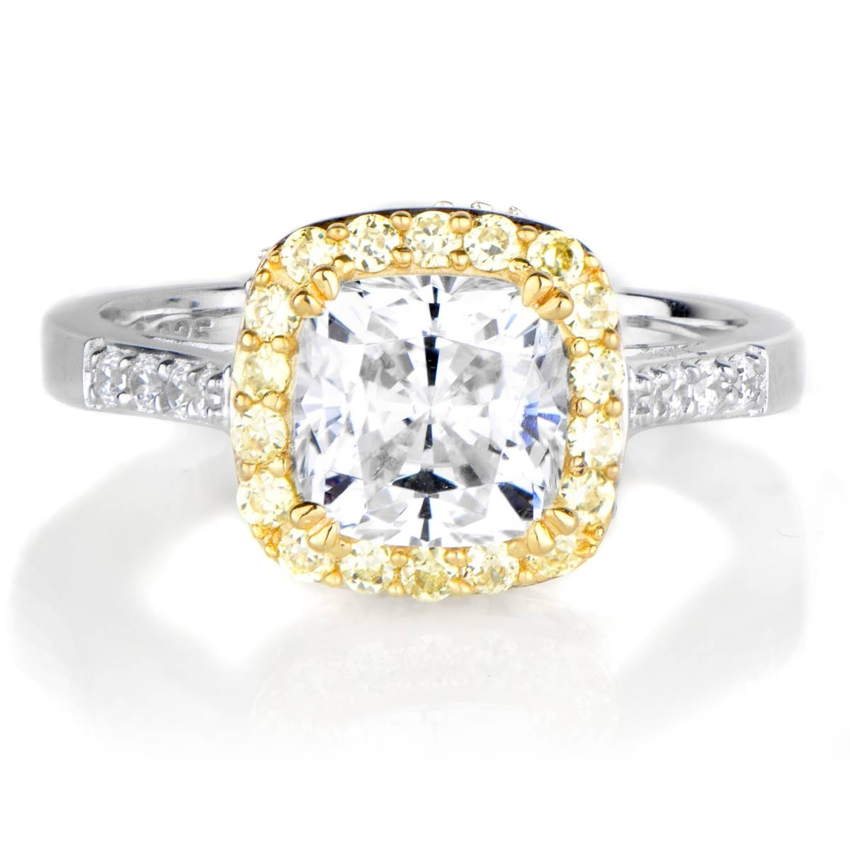 Cubic Zirconia Halo Rings Emitations Regarding November Birthstone Engagement Rings (View 4 of 15)