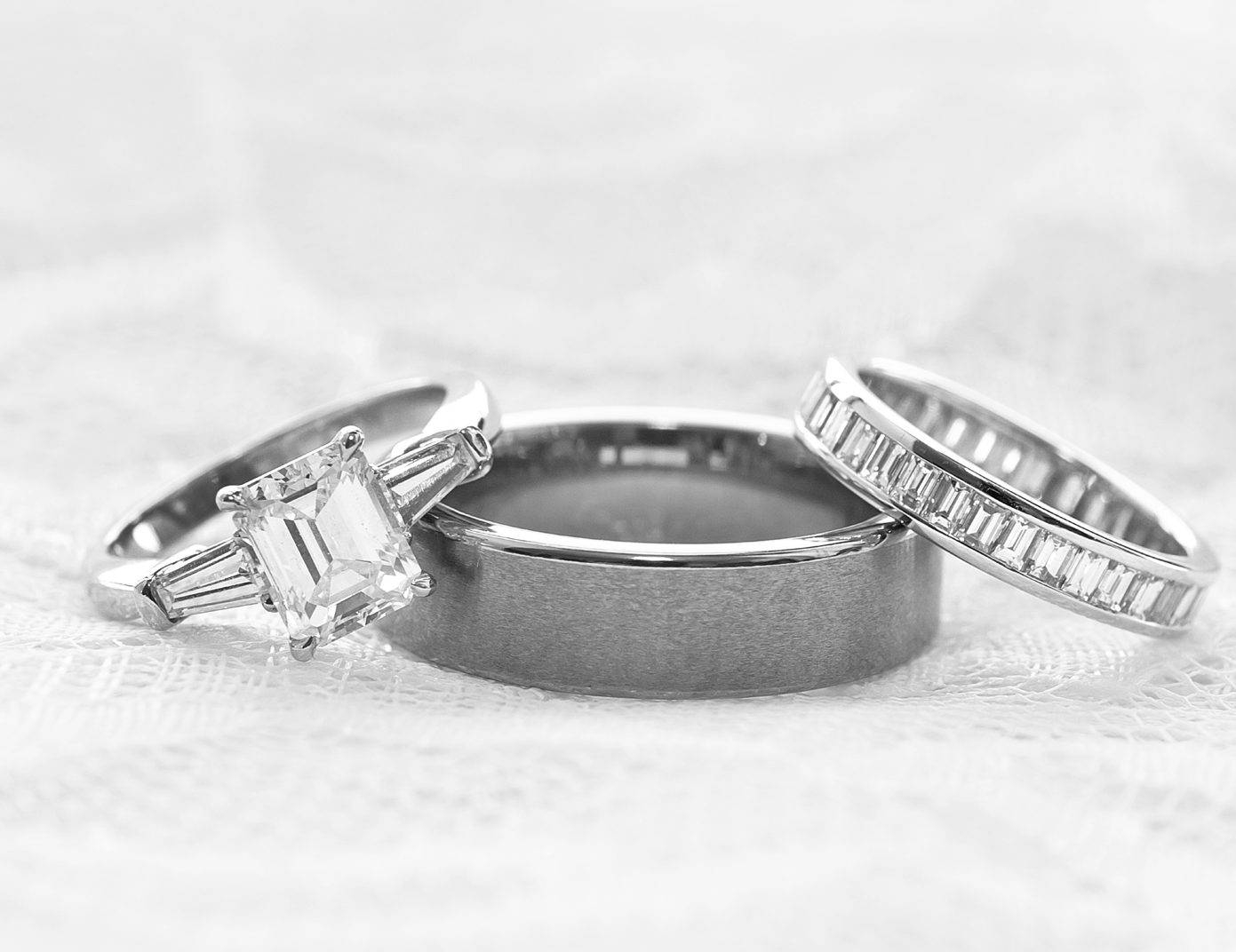 Custom Designed Wedding Ring Sets – Indy Facets Intended For Custom Wedding Rings Sets (View 4 of 15)