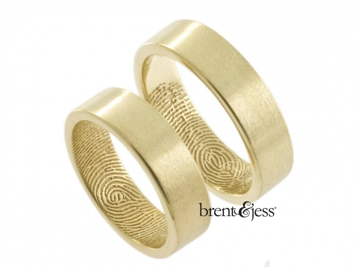 Custom Handmade Fingerprint Jewelrybrent&jess Inside Fingerprint Wedding Rings (View 7 of 15)