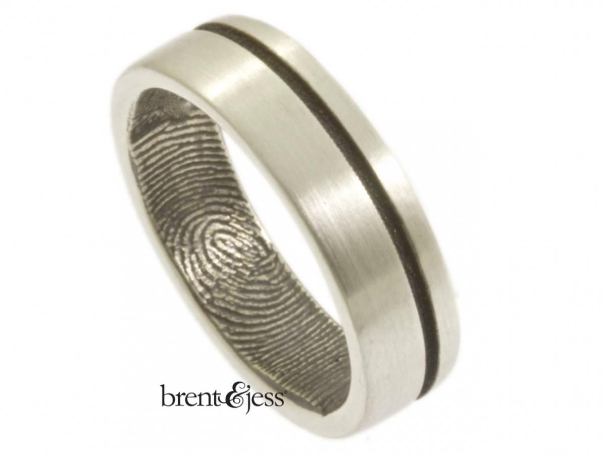 Custom Handmade Fingerprint Jewelrybrent&jess With Modern Design Wedding Rings (View 4 of 15)