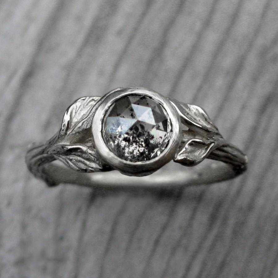 Custom Rose Cut Diamond Twig & Leaf Engagement Ring: Design Your Within Rustic Engagement Rings (View 5 of 15)