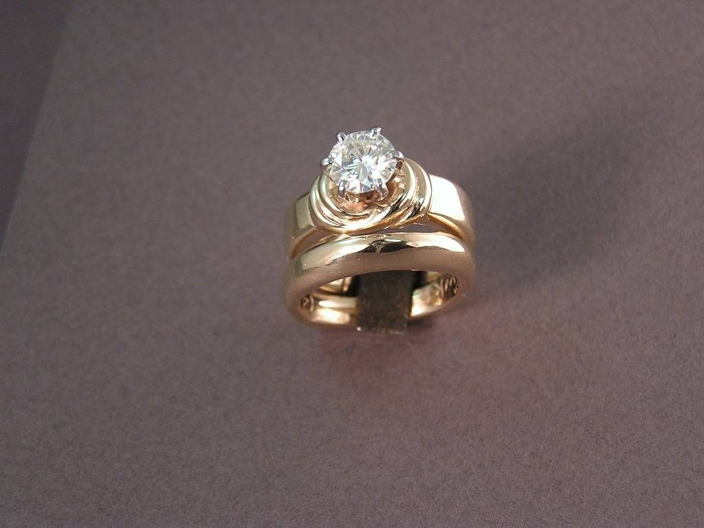 "Custom Wedding Rings For Sweethearts To ""Tie The Knot"" Regarding Tie The Knot Engagement Rings (Gallery 1 of 15)"