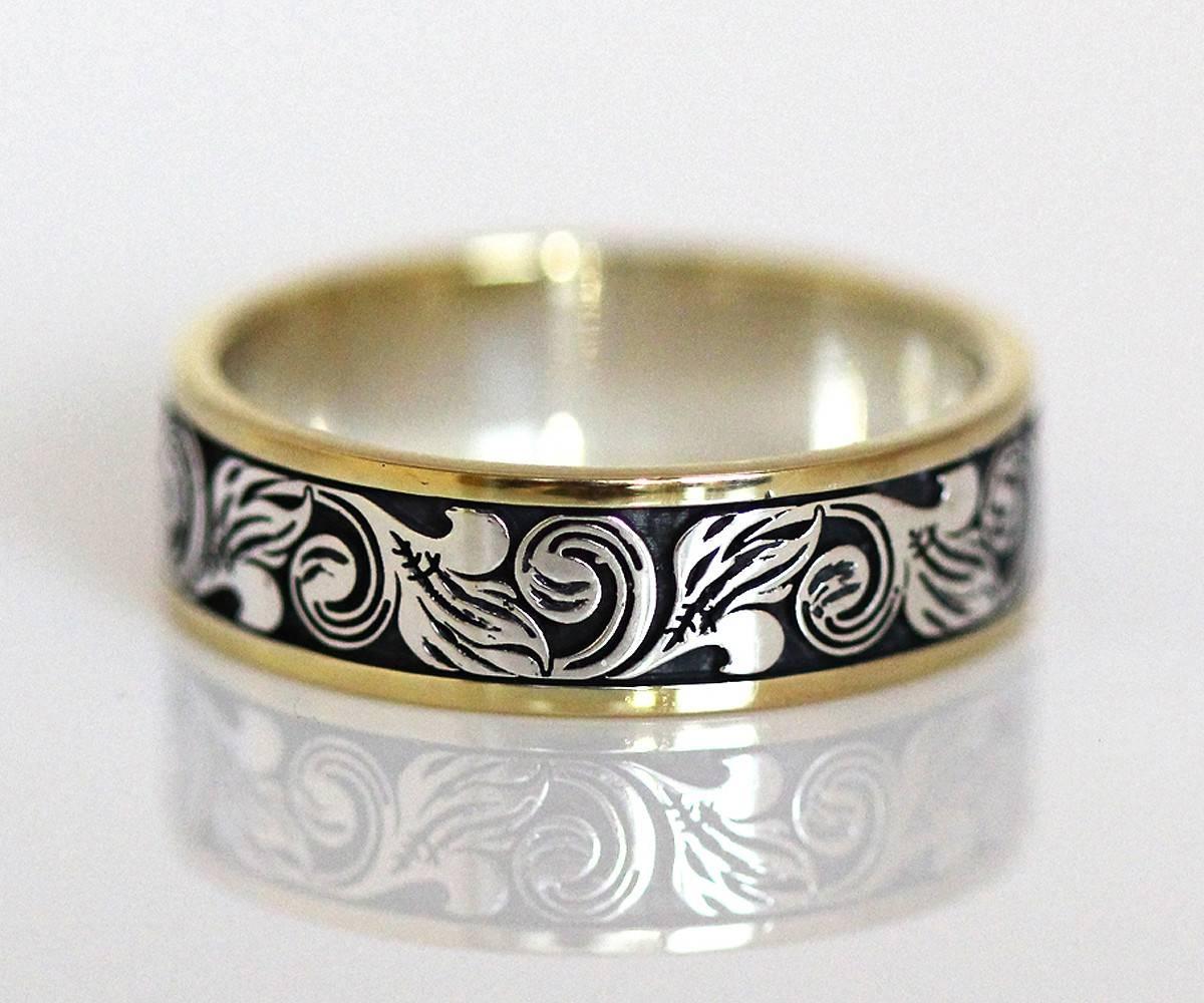 Custom Western Wedding Rings Jewelry Inside Mens Bands Gallery 7 Of 15