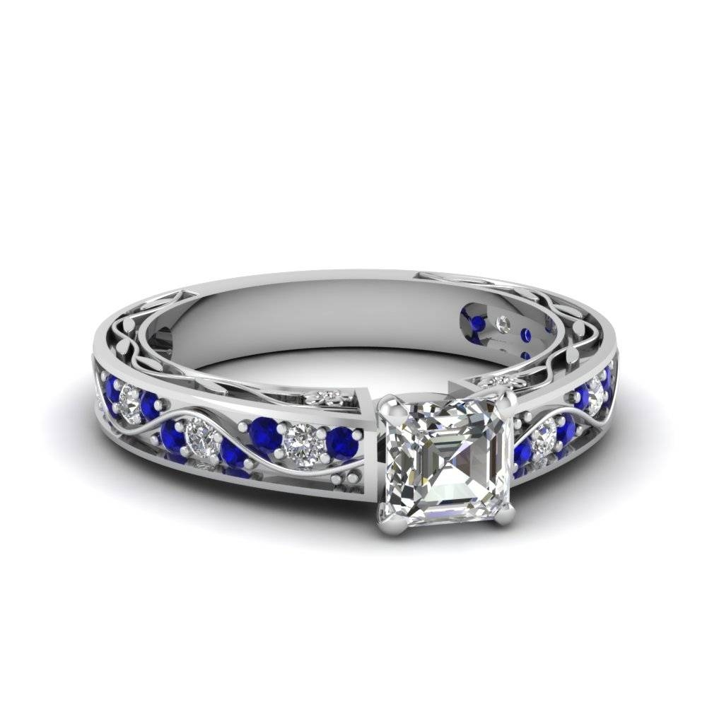 Customize Blue Sapphire Side Stone Engagement Rings| Fascinating Intended For Engagement Rings Sapphires (View 3 of 15)