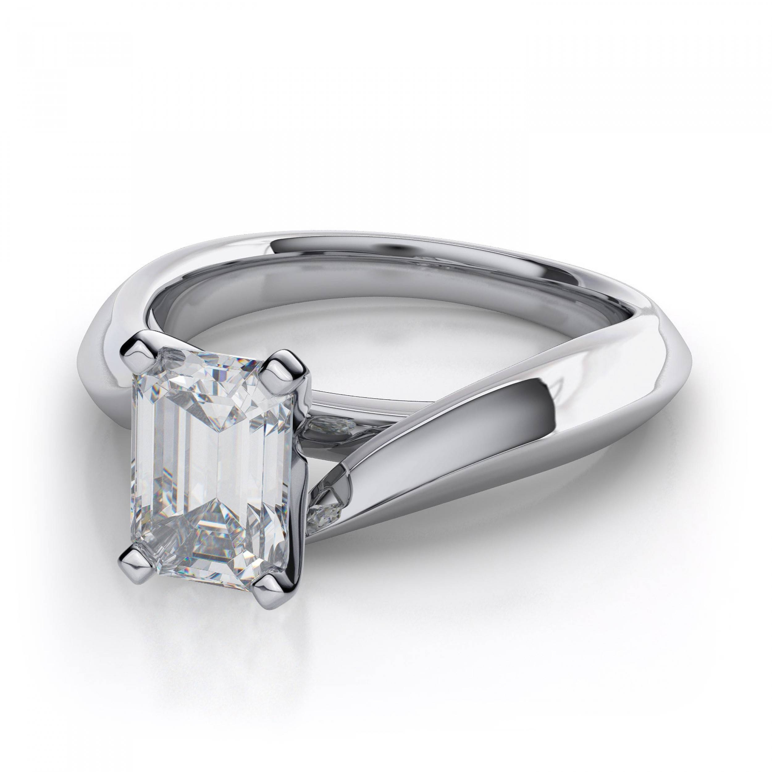 Cut Diamond Bypass Engagement Ring – Platinum With Platinum Wedding Rings Settings (View 7 of 15)