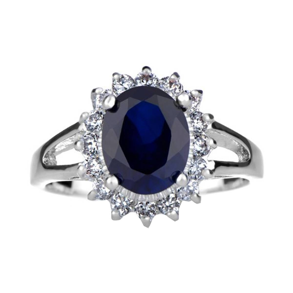 Cz Royal Style Engagement Ring: Silvertone Intended For Wedding Rings Without Nickel (View 5 of 15)
