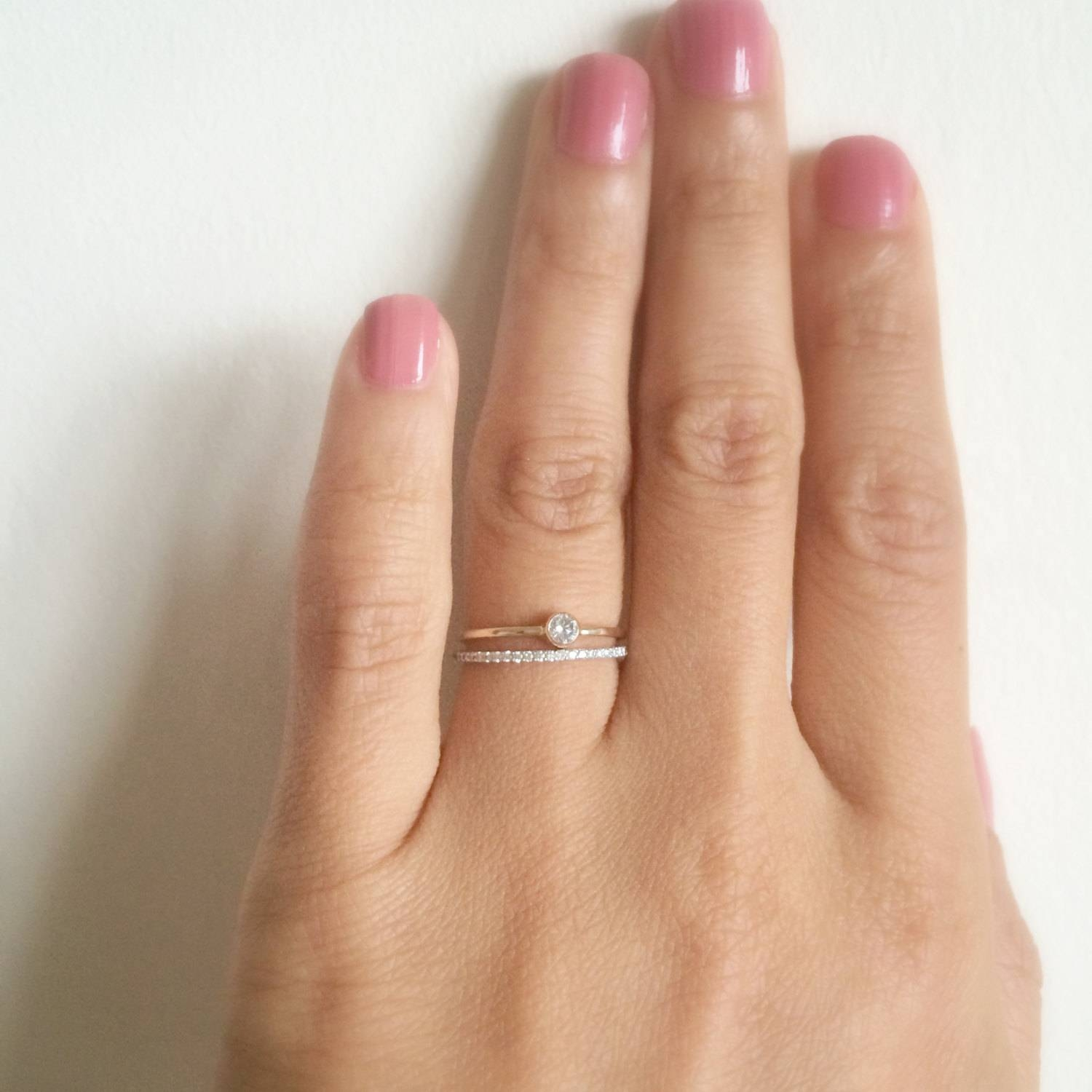 Dainty Engagement Ring  (View 1 of 15)