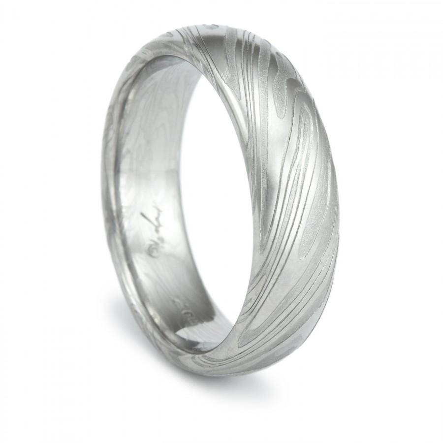Damascus Steel Ring Unique Men's Wedding Band Twisted Wood Grain With Damascus Steel Men's Wedding Bands (View 5 of 15)