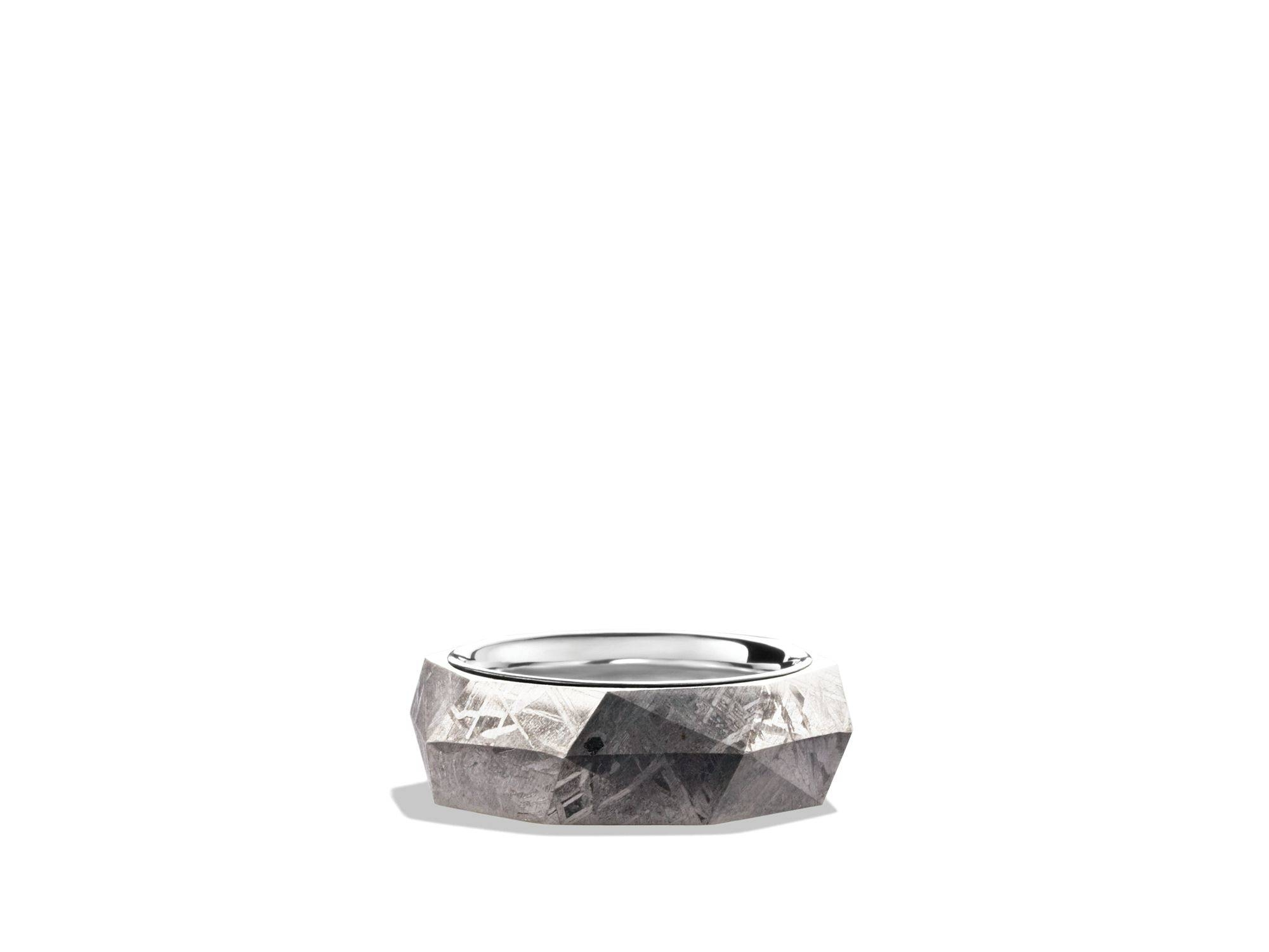 david yurman band ring with meteorite in metallic for men lyst pertaining to bloomingdales wedding - David Yurman Mens Wedding Rings