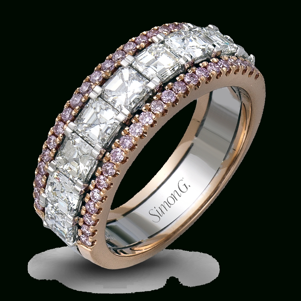 Designer Diamond Wedding And Anniversary Bands | Simon G. Throughout Wedding Rings With Diamonds All The Way Around (Gallery 9 of 15)