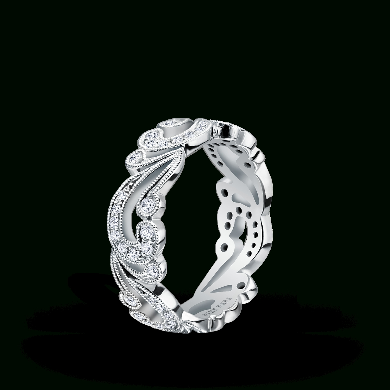 Designer Diamond Wedding Anniversary Bands For Women Kirk Kara Throughout Artistic Rings