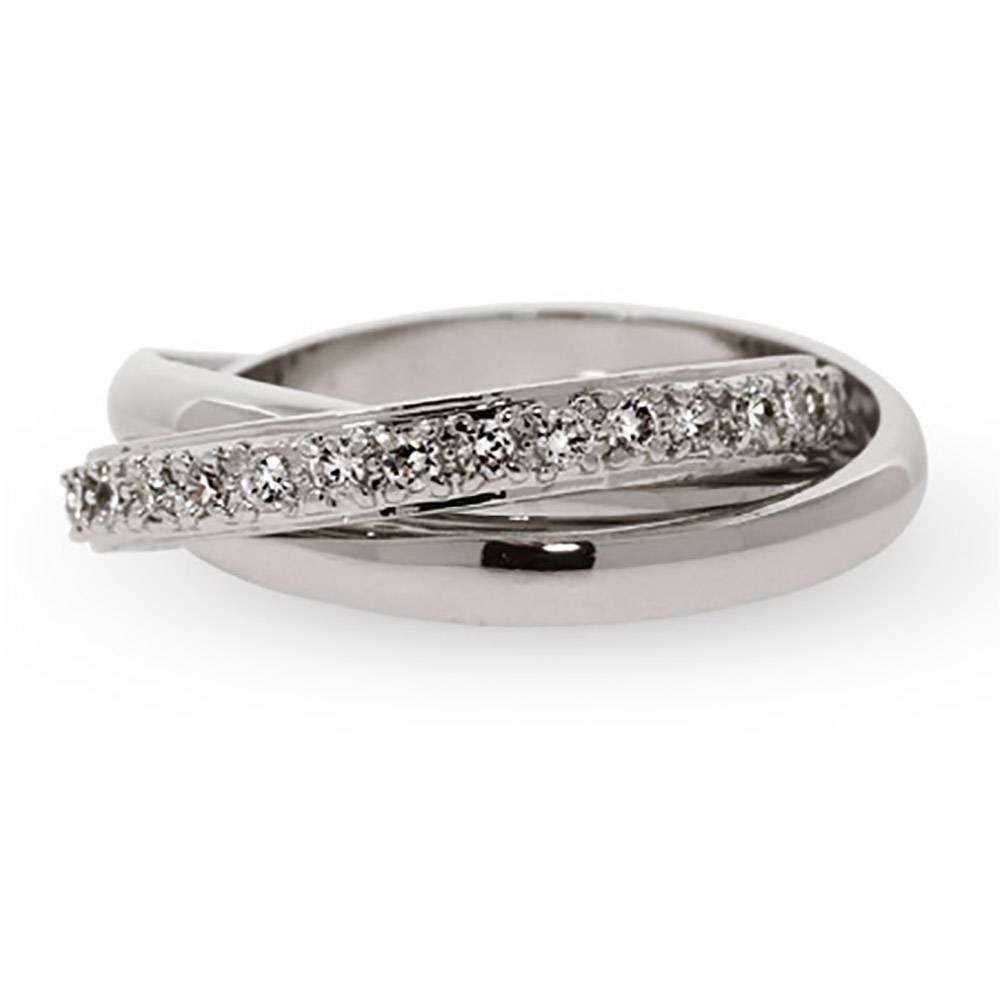 Designer Style Russian Wedding Ring With Cz Band | Eve's Addiction® Throughout Russian Wedding Rings (View 7 of 15)