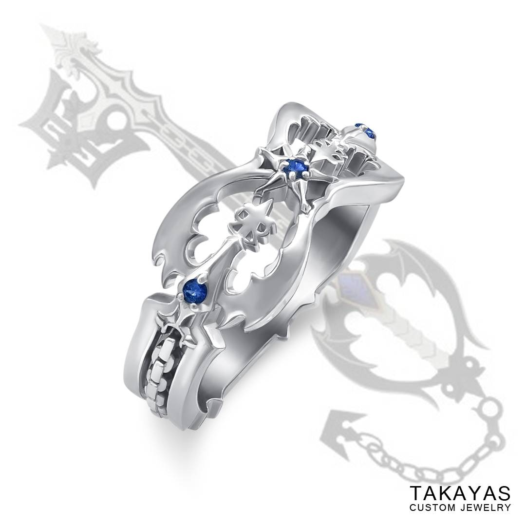 "Destinies Become Intertwined"" Kingdom Hearts Wedding Bands – Part Intended For Intertwined Wedding Bands (View 3 of 15)"